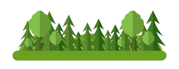 Árvores de vista da floresta