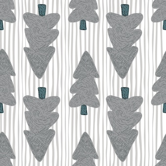 Árvores lilases escuras loking em outros lados, em fundo branco com linhas azuis. ilustração. para tecido, estampa têxtil, embrulho, capa.