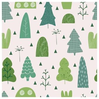 Árvores, vetorial, ilustração