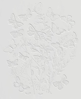 As borboletas e as mariposas flutuando sobre o vetor da ilustração do vintage das flores, remixam da arte original.
