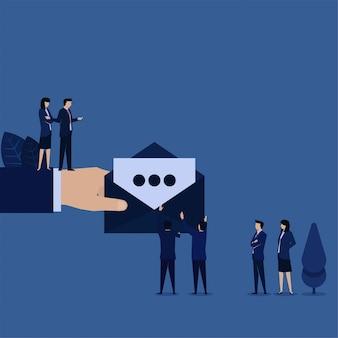 As empresas recebem uma nova carta de e-mail do gerente.