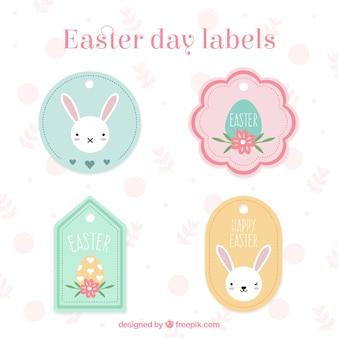 As etiquetas bonitos do dia de páscoa