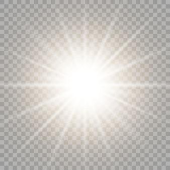 As faíscas de poeira e estrelas douradas brilham com uma luz especial. efeito de luz. neve. vetor. resumo de natal. conceito mágico