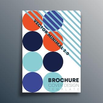 As formas geométricas retrô da bauhaus são projetadas para panfleto, pôster, capa de brochura, tipografia ou outros produtos de impressão. ilustração vetorial.