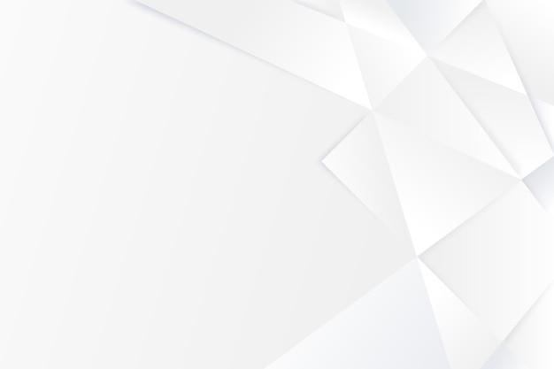 As formas poligonais copiam o fundo do espaço branco