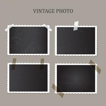 As fotos do vintage coleção