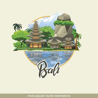 As ilhas de bali são um dos lugares mais visitados do mundo