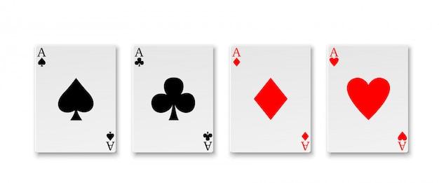 Ás jogando cartas