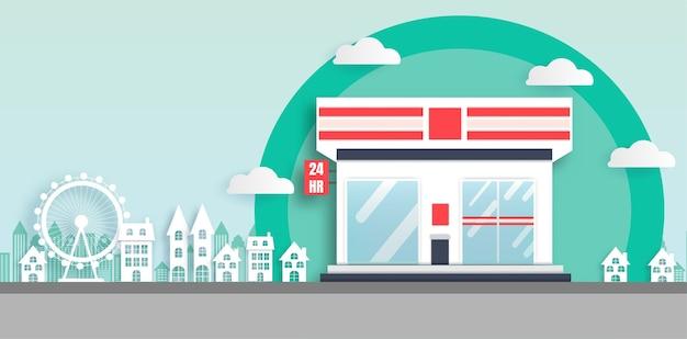 As lojas de conveniência abrem 24 horas.