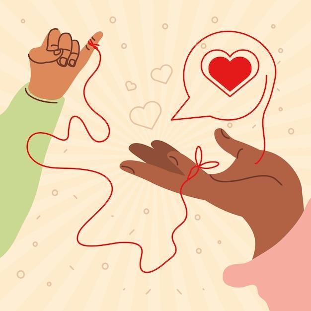 As mãos estão conectadas do destino