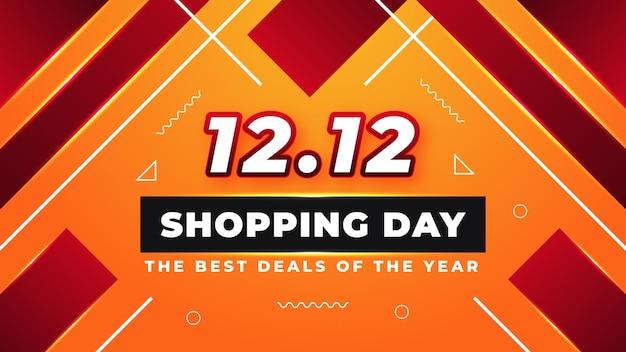 As melhores ofertas do ano o maior festival de compras grande venda 1212 design de banner moderno abstrato