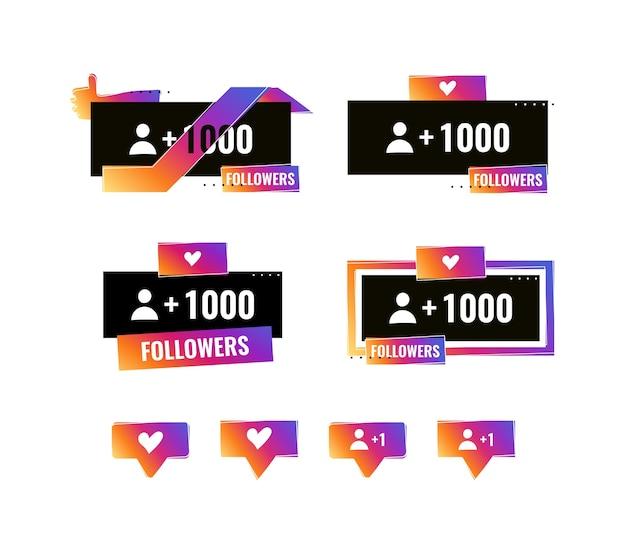 As mídias sociais modernas aumentaram o design de seguidores e borbulharam como o bate-papo