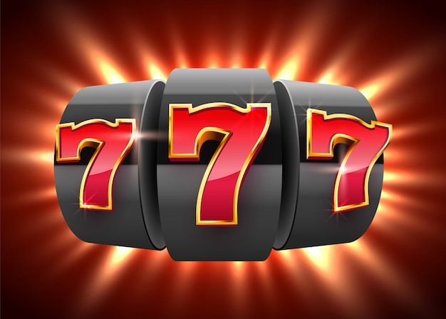 As moedas pretas da slot machine ganham o jackpot. conceito de casino de grande vitória.