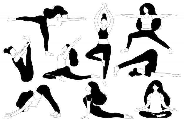 As mulheres fazem yoga