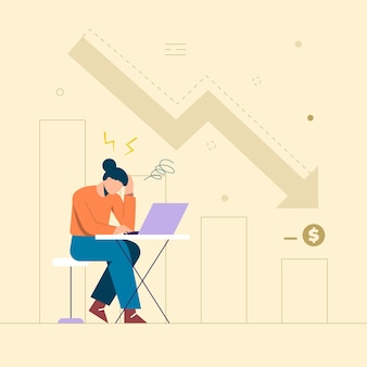 As mulheres que pensam profundamente em seus negócios diminuíram em relação ao mês passado. cansado e pensando no desenvolvimento.