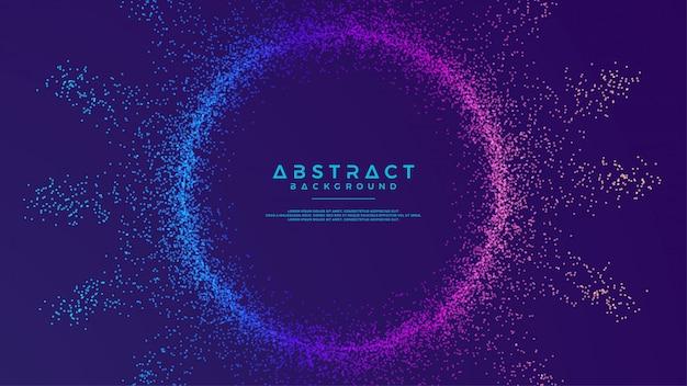 As partículas líquidas abstratas dinâmicas do fluxo circundam o fundo.