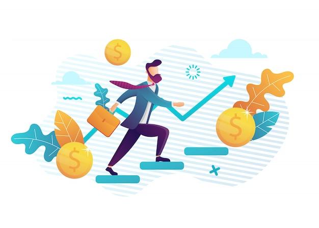 As pessoas correm para o seu objetivo nas escadas, aumentam a motivação, o caminho para a conquista do alvo