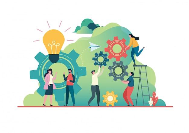 As pessoas criam ideias para o sucesso.