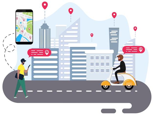 As pessoas estão pedindo transporte on-line