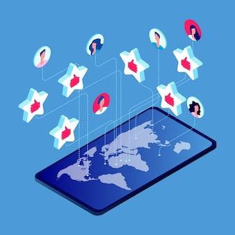 As pessoas gostam no mundo todo em smartphones