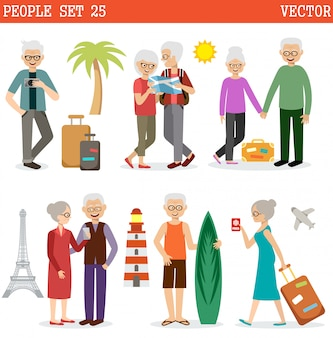As pessoas idosas viajam
