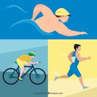 As pessoas nos jogos olímpicos