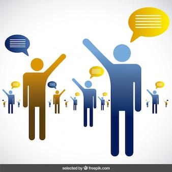 As pessoas que falam