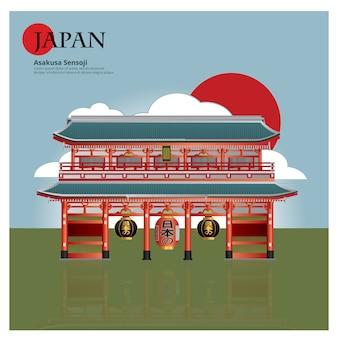 Asakusa sensoji japan landmark