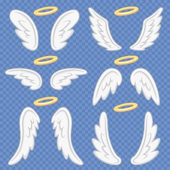 Asas de anjo dos desenhos animados