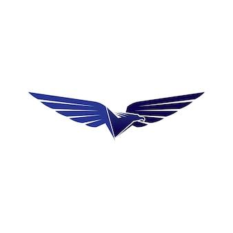 Asas de falcão logotipo modelo vector ícone logo
