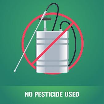 Aspersor de pesticidas na ilustração de sinal de proibição