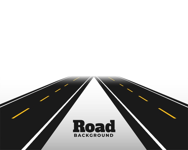 Asphat road em perspectiva de horizonte
