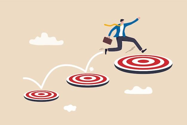 Aspiração e motivação para atingir uma meta de negócios maior