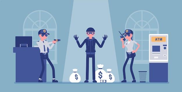 Assaltante de banco pego por ilustração policial