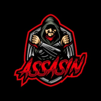 Assasin mascot logo esport gaming