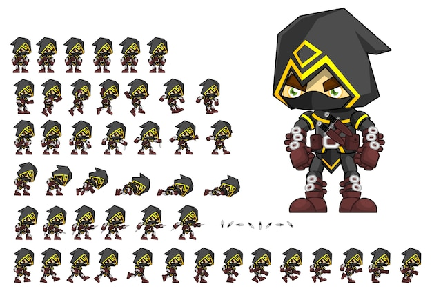 Assassin game sprites