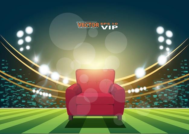 Assento vip no estádio de futebol