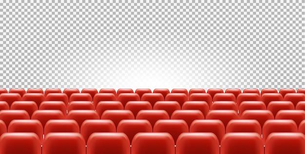 Assentos de cinema ou teatro no salão vazio