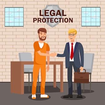 Assessor jurídico, advogado modelo de banner plana de serviço