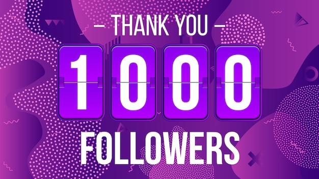 Assinantes de 1000 seguidores, obrigado banner.