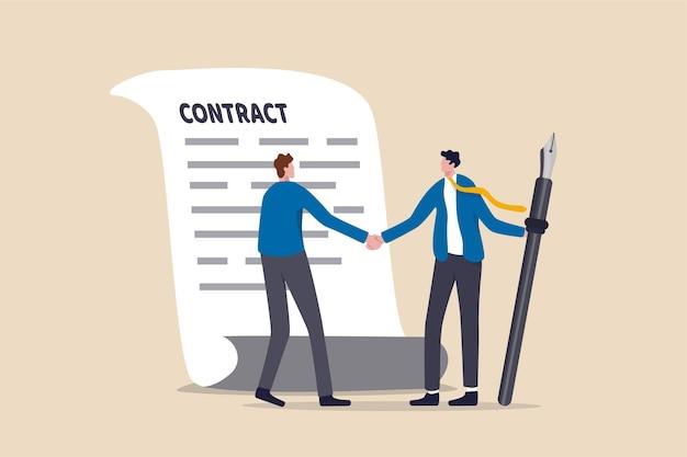 Assinatura de contrato de negócio e parceria
