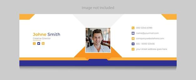 Assinatura de e-mail corporativo ou modelo de página de capa pessoal do facebook premium vector