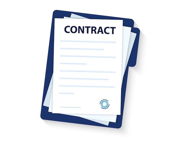 Assinatura do contrato. memorando de acordo de contrato de entendimento do selo de carimbo do documento legal, conceito para banners web, sites, infográficos. caneta de acordo do ícone do contrato.