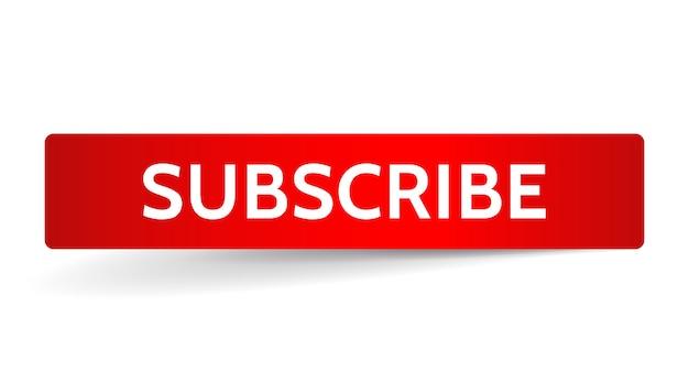 Assine a faixa vermelha. banner do botão. elemento da interface do usuário.
