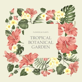 Assine no centro o jardim botânico tropical.