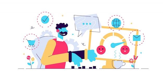 Assistência a clientes, call center, operador de linha direta, gerente de consultores. atendimento ao cliente, serviço personalizado e sem costura, conceito de experiência do cliente. ilustração isolada azul coral rosa