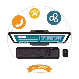 Assistência de computador do centro de atendimento on-line