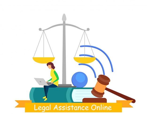 Assistência jurídica, banner online de consultoria na web