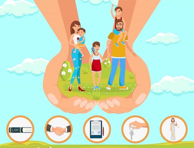 Assistência jurídica em assuntos de adoção de crianças.