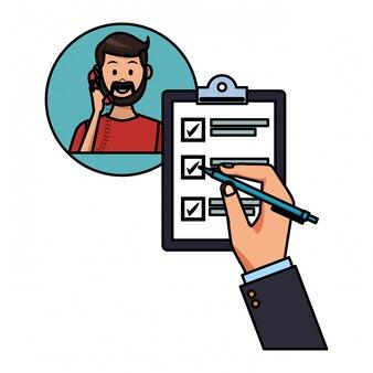 Assistência na tabela de listas de verificação